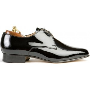 Sanders Ritz in Black Patent Leather-6360