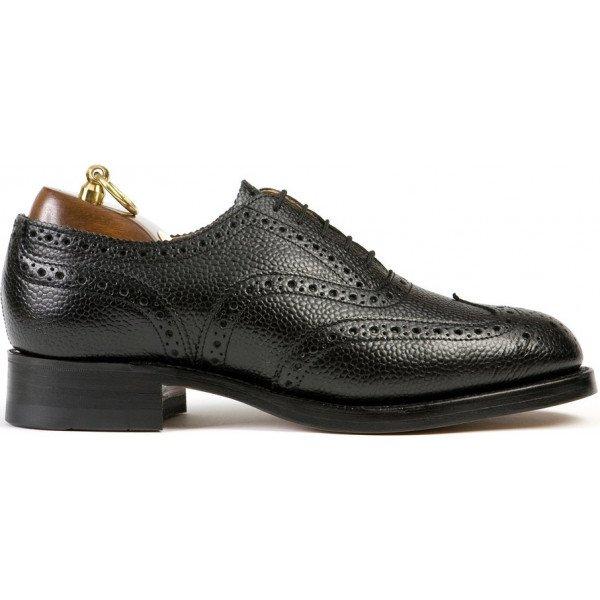Sanders Braemar in Black Grain Leather-6380