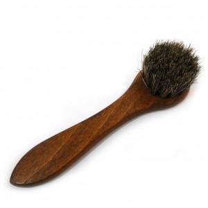 Shoe polish applicator brush