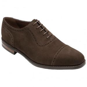 Loake Fleet in brown suede