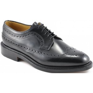 Loake Royal Brogue in Black Leather-0