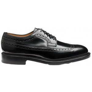 Loake Royal Brogue in Black Leather-13950
