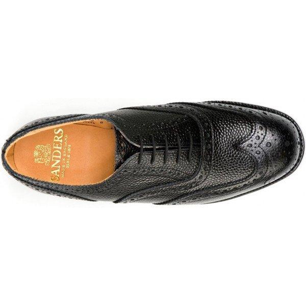 Sanders Braemar in Black Grain Leather-12416