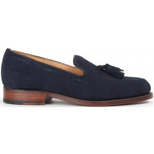 Sanders Finchley in Navy Suede-8778