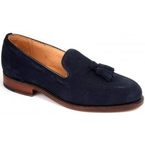 Sanders Finchley in Navy Suede-0