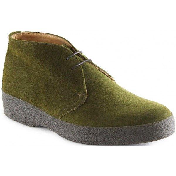 sanders hi top green suede