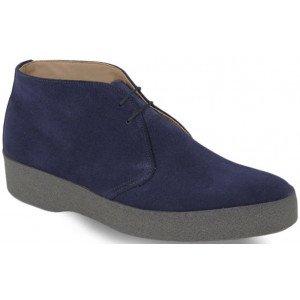 sanders hitop blue suede boot