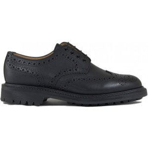 Sanders Salisbury in Black Waxy Leather-10324