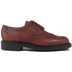 Sanders Salisbury in Brown Waxy Leather-12572