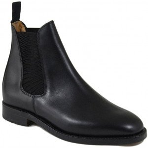 Sanders Thirsk in Black Waxy Leather-0