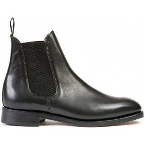 Sanders Thirsk in Black Waxy Leather-5287