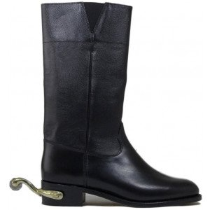 Sanders Wellington in Black Calf-14800