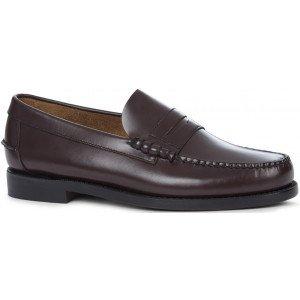 sebago classic shoe burgundy