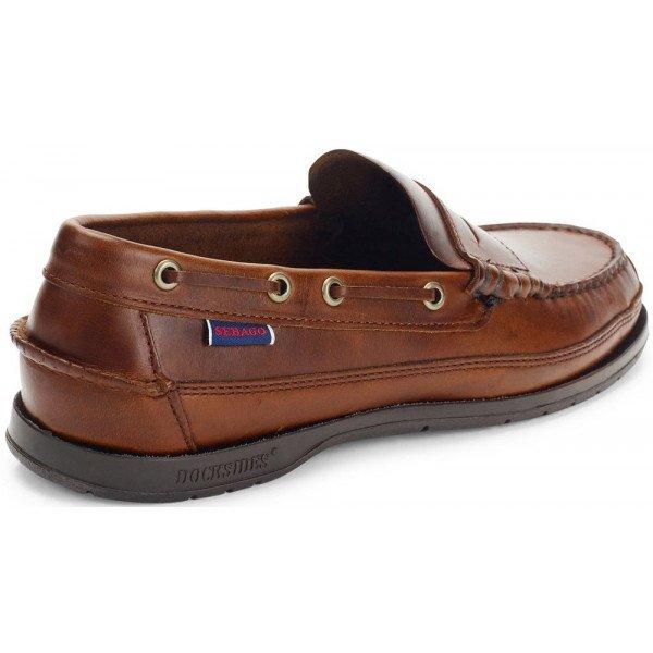 Sebago Sloop Brown Leather 70002B0 925-12205
